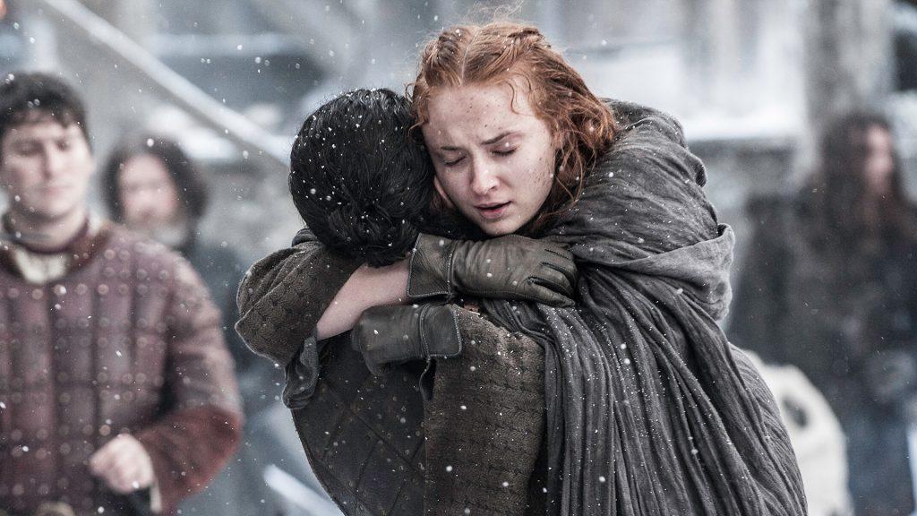 Game of Thrones Sansa Stark nunca será rainha de Westeros - Sansa abraça Jon Snow