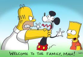Criador de Os Simpsons faz charge dando boas-vindas ao Mickey