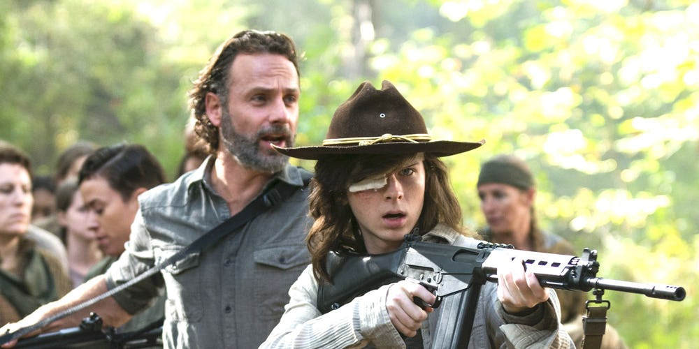 the walking dead-carl 1