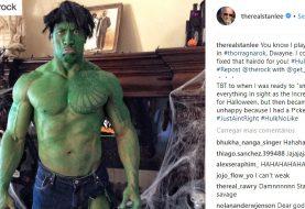 'The Rock' Johnson publica foto como Hulk e ouve piada de Stan Lee