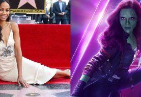 Zoe Saldana, a Gamora, ganha estrela na Calçada da Fama