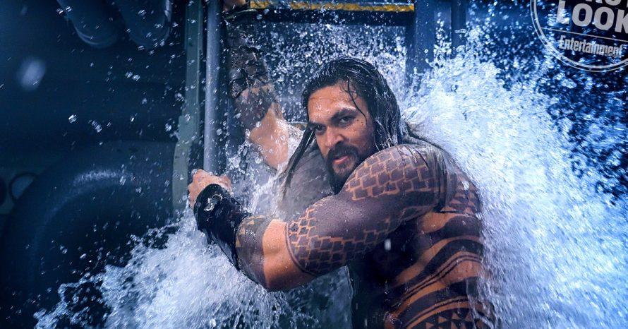 Jason Momoa e Amber Heard aparecem em imagens do set de Aquaman