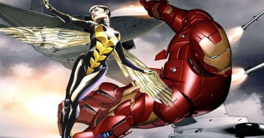 Homem de Ferro e Vespa se beijam em capa de nova HQ