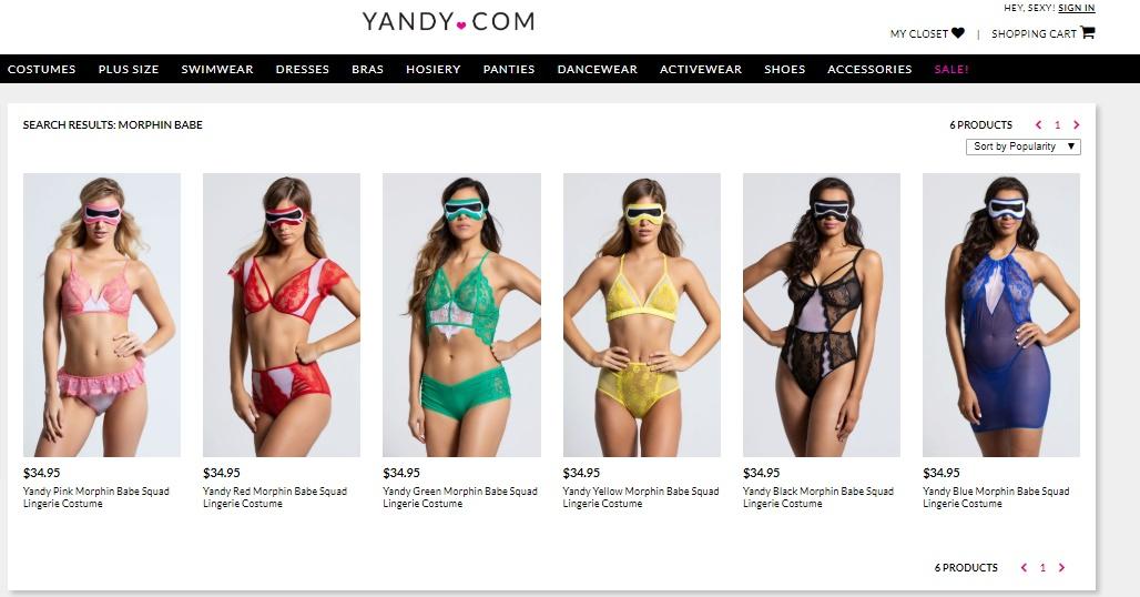 296759b19 Empresa lança linha de lingeries inspirada em Power Rangers