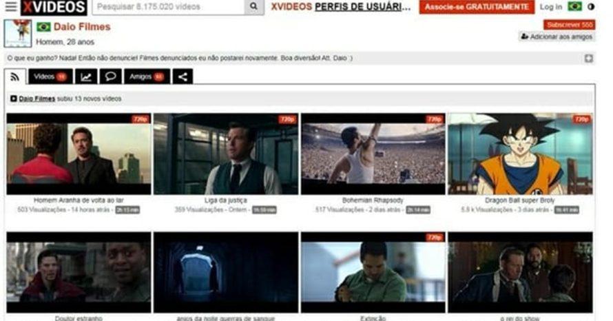 Vídeos e filmes barrados pelo YouTube estão sendo disponibilizados no XVideos