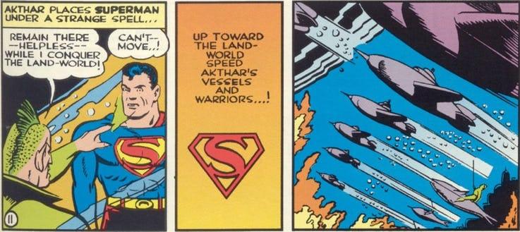 A primeira vez que o Superman foi vítima de magia.