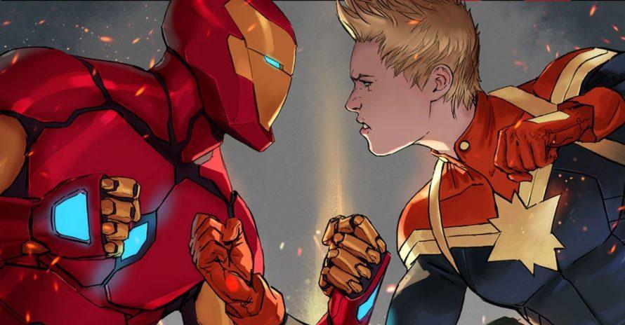 Capitã Marvel dá spoiler de Game of Thrones ao Homem de Ferro em HQ