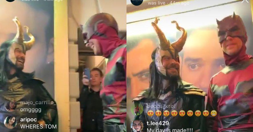 Halloween: Tom Hiddleston se veste de Demolidor e Charlie Cox, de Loki; veja