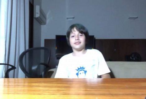 Michelzinho, o filho de Michel Temer, tem canal de games no YouTube