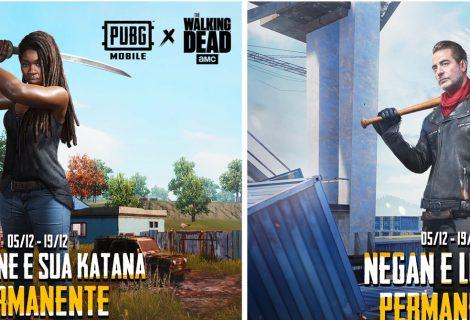 PUBG Mobile recebe skins de Negan e Michonne, de The Walking Dead