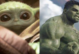 Fã coloca cabeça do Baby Yoda no corpo do Hulk e internautas reagem