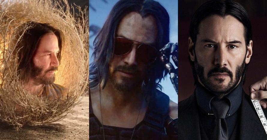 Os próximos trabalhos de Keanu Reeves nos cinemas, TV e até videogames