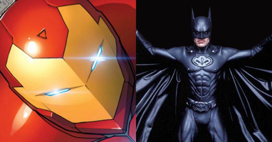 Traje do Homem de Ferro em HQ teve mamilos igual ao Batman de George Clooney