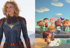 Brie Larson, a Capitã Marvel, grava vídeo em que joga Animal Crossing: New Horizons