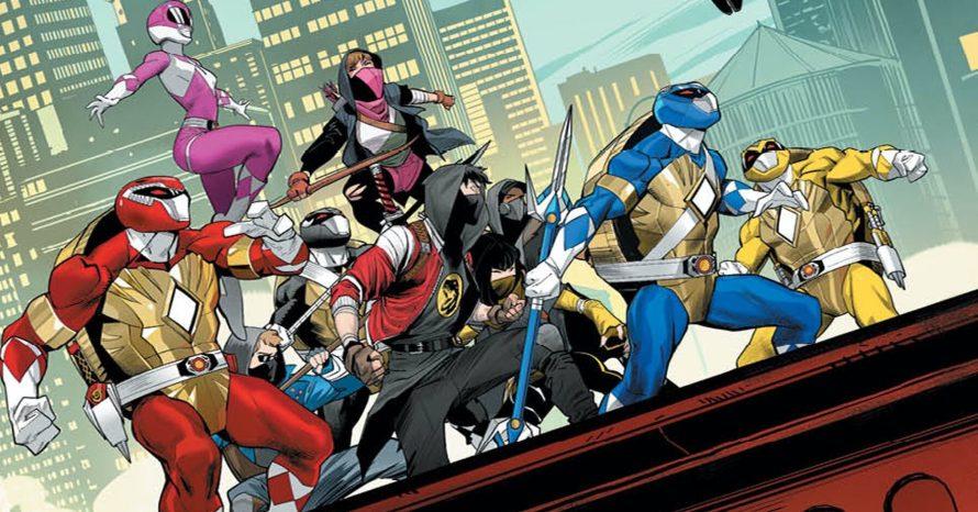 HQ crossover de Tartatugas Ninja e Power Rangers revela o 'Tartarugazord', confira