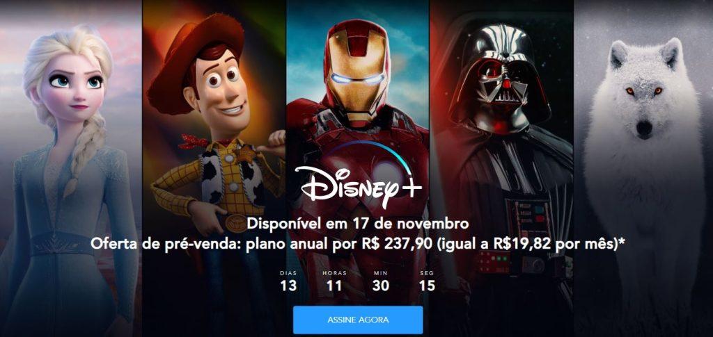 Disney+-pré-venda Brasil