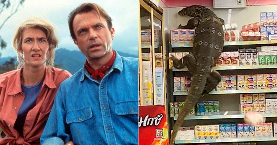 Jurassic World comenta vídeo viral sobre lagarto gigante: 'não fomos nós'