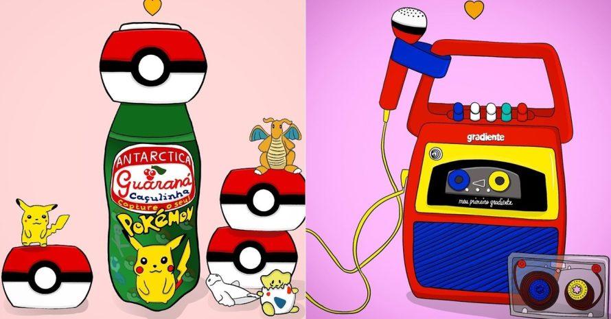 Artista brasileira recria memória de doces e brinquedos dos anos 90 e 00
