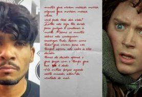 Lázaro Barbosa, o Serial Killer do DF, carregava carta com fala de O Senhor dos Anéis